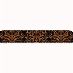 DAMASK1 BLACK MARBLE & RUSTED METAL (R) Small Bar Mats