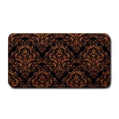 DAMASK1 BLACK MARBLE & RUSTED METAL (R) Medium Bar Mats