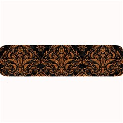 DAMASK1 BLACK MARBLE & RUSTED METAL (R) Large Bar Mats