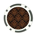 DAMASK1 BLACK MARBLE & RUSTED METAL (R) Poker Chip Card Guard Front