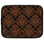 DAMASK1 BLACK MARBLE & RUSTED METAL (R) Netbook Case (Large) Front