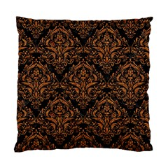 DAMASK1 BLACK MARBLE & RUSTED METAL (R) Standard Cushion Case (Two Sides)