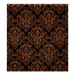 DAMASK1 BLACK MARBLE & RUSTED METAL (R) Shower Curtain 66  x 72  (Large)