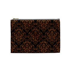 DAMASK1 BLACK MARBLE & RUSTED METAL (R) Cosmetic Bag (Medium)