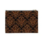 DAMASK1 BLACK MARBLE & RUSTED METAL (R) Cosmetic Bag (Large)  Back