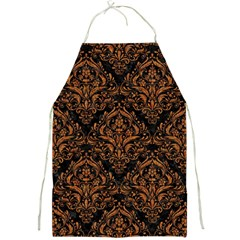 DAMASK1 BLACK MARBLE & RUSTED METAL (R) Full Print Aprons