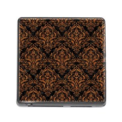 DAMASK1 BLACK MARBLE & RUSTED METAL (R) Memory Card Reader (Square)