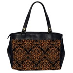 DAMASK1 BLACK MARBLE & RUSTED METAL (R) Office Handbags (2 Sides)  Back