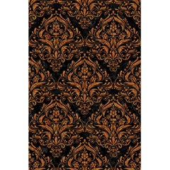 DAMASK1 BLACK MARBLE & RUSTED METAL (R) 5.5  x 8.5  Notebooks