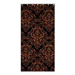 DAMASK1 BLACK MARBLE & RUSTED METAL (R) Shower Curtain 36  x 72  (Stall)