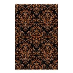 DAMASK1 BLACK MARBLE & RUSTED METAL (R) Shower Curtain 48  x 72  (Small)