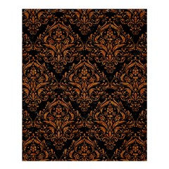 DAMASK1 BLACK MARBLE & RUSTED METAL (R) Shower Curtain 60  x 72  (Medium)