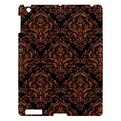 DAMASK1 BLACK MARBLE & RUSTED METAL (R) Apple iPad 3/4 Hardshell Case