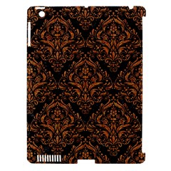 DAMASK1 BLACK MARBLE & RUSTED METAL (R) Apple iPad 3/4 Hardshell Case (Compatible with Smart Cover)