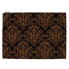 DAMASK1 BLACK MARBLE & RUSTED METAL (R) Cosmetic Bag (XXL)
