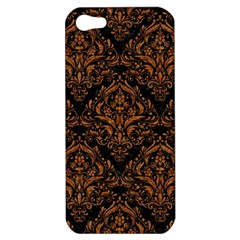 DAMASK1 BLACK MARBLE & RUSTED METAL (R) Apple iPhone 5 Hardshell Case
