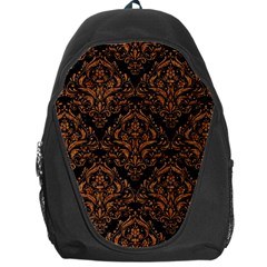 DAMASK1 BLACK MARBLE & RUSTED METAL (R) Backpack Bag