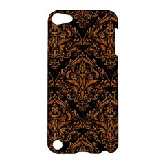 DAMASK1 BLACK MARBLE & RUSTED METAL (R) Apple iPod Touch 5 Hardshell Case