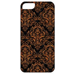 DAMASK1 BLACK MARBLE & RUSTED METAL (R) Apple iPhone 5 Classic Hardshell Case