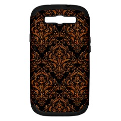 DAMASK1 BLACK MARBLE & RUSTED METAL (R) Samsung Galaxy S III Hardshell Case (PC+Silicone)