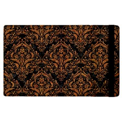 DAMASK1 BLACK MARBLE & RUSTED METAL (R) Apple iPad 3/4 Flip Case