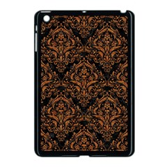 DAMASK1 BLACK MARBLE & RUSTED METAL (R) Apple iPad Mini Case (Black)