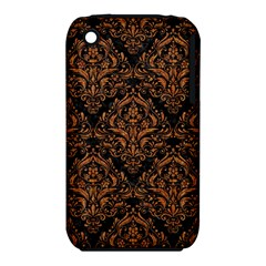 DAMASK1 BLACK MARBLE & RUSTED METAL (R) iPhone 3S/3GS