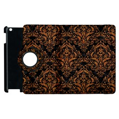 DAMASK1 BLACK MARBLE & RUSTED METAL (R) Apple iPad 3/4 Flip 360 Case