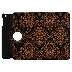 DAMASK1 BLACK MARBLE & RUSTED METAL (R) Apple iPad Mini Flip 360 Case