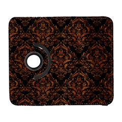 DAMASK1 BLACK MARBLE & RUSTED METAL (R) Galaxy S3 (Flip/Folio)