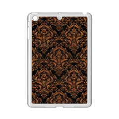 DAMASK1 BLACK MARBLE & RUSTED METAL (R) iPad Mini 2 Enamel Coated Cases