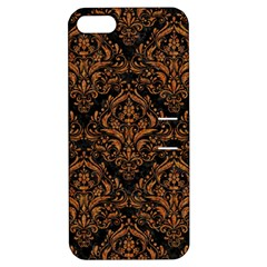 DAMASK1 BLACK MARBLE & RUSTED METAL (R) Apple iPhone 5 Hardshell Case with Stand