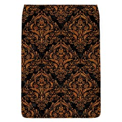 DAMASK1 BLACK MARBLE & RUSTED METAL (R) Flap Covers (L)