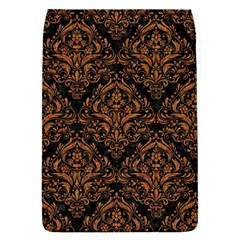 DAMASK1 BLACK MARBLE & RUSTED METAL (R) Flap Covers (S)