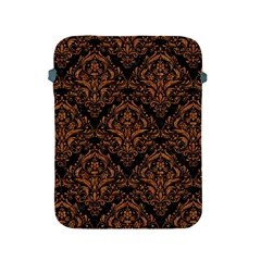 DAMASK1 BLACK MARBLE & RUSTED METAL (R) Apple iPad 2/3/4 Protective Soft Cases