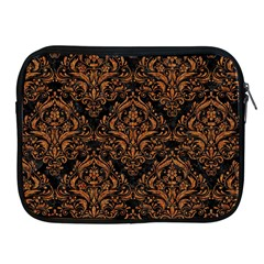 DAMASK1 BLACK MARBLE & RUSTED METAL (R) Apple iPad 2/3/4 Zipper Cases