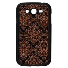 DAMASK1 BLACK MARBLE & RUSTED METAL (R) Samsung Galaxy Grand DUOS I9082 Case (Black)