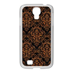 DAMASK1 BLACK MARBLE & RUSTED METAL (R) Samsung GALAXY S4 I9500/ I9505 Case (White)
