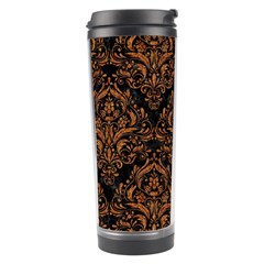 DAMASK1 BLACK MARBLE & RUSTED METAL (R) Travel Tumbler