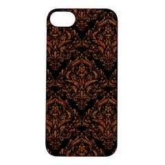 DAMASK1 BLACK MARBLE & RUSTED METAL (R) Apple iPhone 5S/ SE Hardshell Case