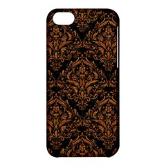 DAMASK1 BLACK MARBLE & RUSTED METAL (R) Apple iPhone 5C Hardshell Case