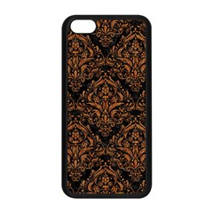 DAMASK1 BLACK MARBLE & RUSTED METAL (R) Apple iPhone 5C Seamless Case (Black)