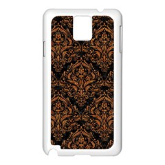 DAMASK1 BLACK MARBLE & RUSTED METAL (R) Samsung Galaxy Note 3 N9005 Case (White)