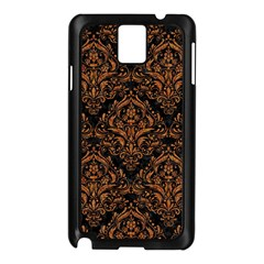 DAMASK1 BLACK MARBLE & RUSTED METAL (R) Samsung Galaxy Note 3 N9005 Case (Black)