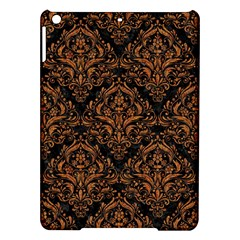 DAMASK1 BLACK MARBLE & RUSTED METAL (R) iPad Air Hardshell Cases