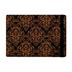 DAMASK1 BLACK MARBLE & RUSTED METAL (R) iPad Mini 2 Flip Cases