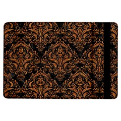 DAMASK1 BLACK MARBLE & RUSTED METAL (R) iPad Air Flip