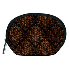 DAMASK1 BLACK MARBLE & RUSTED METAL (R) Accessory Pouches (Medium)