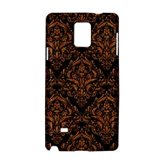 DAMASK1 BLACK MARBLE & RUSTED METAL (R) Samsung Galaxy Note 4 Hardshell Case