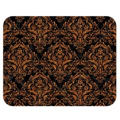 DAMASK1 BLACK MARBLE & RUSTED METAL (R) Double Sided Flano Blanket (Medium)